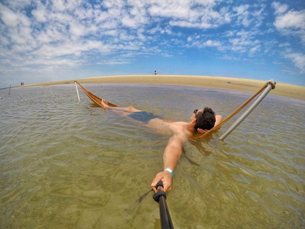 Redes dentro d'água pra relaxar