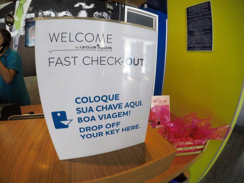 Fast check-out no Ibis Budget Aracaju
