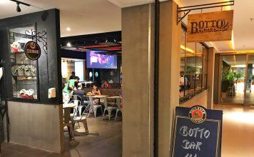 Entrada do Botto bar no Vogue Square Barra