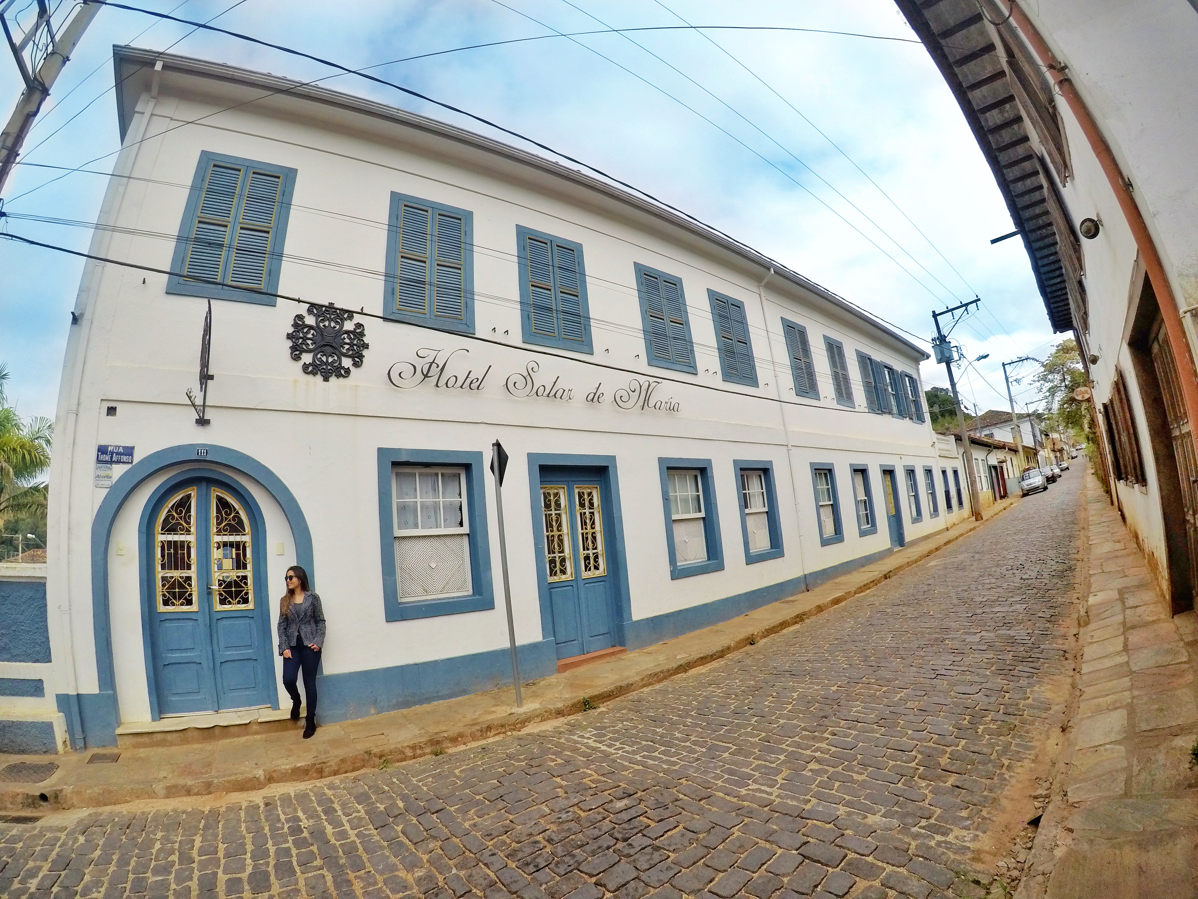 Entrada do Hotel Solar de Maria - Ouro Preto - @dicadeturista