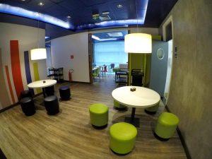 Salão de café da manhã do Ibis Budget Aracaju