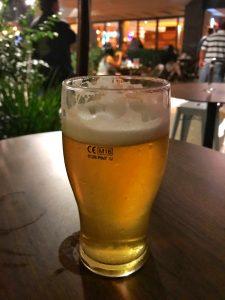 Foto de uma das cervejas do Botto Bar